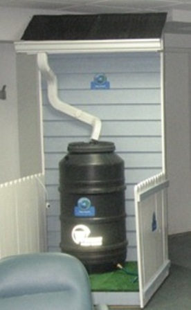 Westmont's working rain barrel